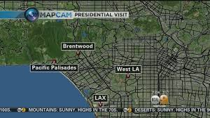 Los Angeles Traffic Map by Obama To Make Whirlwind Visit To Los Angeles Traffic Delays