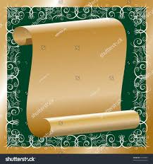 scroll gold papyrus floral ornaments on stock vector 53750083