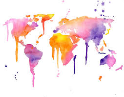 World Map Desktop Wallpaper by Watercolor World Map Desktop Wallpaper Image Mag