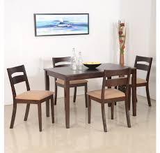 buy nilkamal bahamas 4 seater dining set espresso online at home