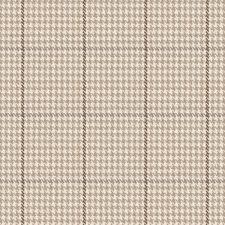 tan small houndstooth woven fabric la crossed safari loom