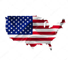 Image Map Of United States by Map Of United States Of America With Waving Flag Isolated On Whi