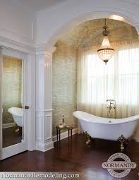 bathroom elegant soaker tubs for your bathroom design ideas white sheer curtains with chandelier and cozy peel