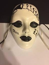 mardi gras ceramic masks jazz mardi gras ceramic mask wall plaque new orleans vintage