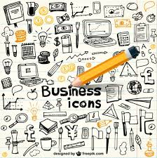 doodle vectors free business icons in doodle style vector free