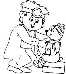 medical help for cute teddy bear coloring page medical help for
