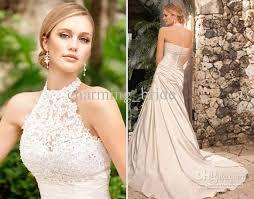 Halter Wedding Dresses Discount Lace Halter Detachable Taffeta Pleated Button Back Ella