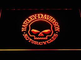 harley davidson skull led neon sign safespecial