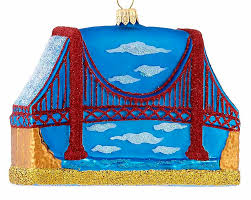 golden gate bridge personalized ornament