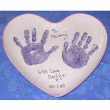 keepsake plate heart print plate baby keepsakes handprint footprint kits