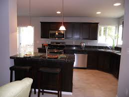 Dark Kitchen Cabinets With Backsplash Dark Brown Laminated Wooden Island Cabinet Brown Wooden Cabinet