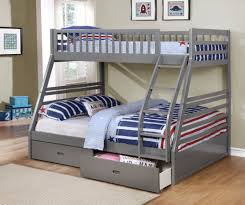 Fraser III Grey Twin Over Full Bunk Bed With Storage Drawers And - Twin over full bunk bed canada