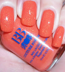 bright orange jelly with glitter sprinkles nail colors for girls
