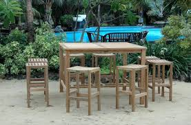 Patio Table Bar Height Bar Height Outdoor Dining Set Thaymanhinhlg