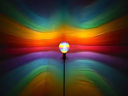rainbow painted moodlight bulb rainbow bedroom night