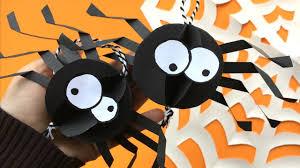 easy paper spider diy decor halloween room decor diy collab