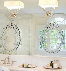 bathroom cabinets set 2 ornate french venetian oval wall mirror