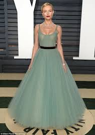 Vanity Fair Oscar Party Kate Bosworth Stuns In Teal Gown Vanity Fair Oscar Party Daily