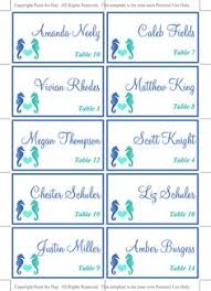 Table Card Template by Beach Wedding Place Card Template