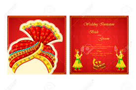 Indian Wedding Invitation Vector Illustration Of Indian Wedding Invitation Card Royalty Free