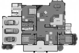 25 three bedroom houseapartment floor plans 3 house one story