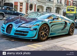 bugatti supercar bugatti veyron parked on the street in knightsbridge london stock