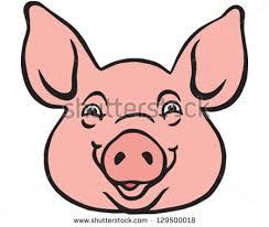 free cartoon pig face vector