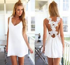 casual white beach dresses beatific bride