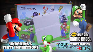 nintendo 3ds xl black friday new nintendo 3ds super mario white edition unboxing black friday