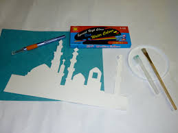 ramadan splatter art muslim learning garden
