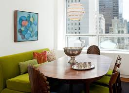 Dining Room Sofa | a twist to a traditional dining area midcentury dining room