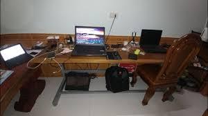 Modern Wood Desk Diy Desk Setup 2017 Clean Modern Wood Design Laptop And Pc