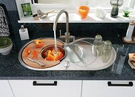 Lamona Round Bowl Sink With Drainer And Lamona Brushed Steel - Brushed steel kitchen sinks