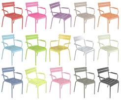 chaises fermob fauteuil empilable luxembourg aluminium verveine fermob in
