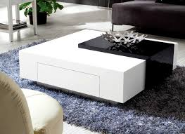 White Tables For Living Room Olympian Sofas Black White High Gloss Coffee Table