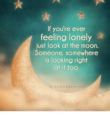 Feeling Lonely Memes - if you re ever feeling lonely just look at the moon someone
