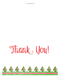 printable christmas thank you cards u2013 happy holidays