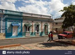 colonial houses in bani dominican republic stock photo royalty