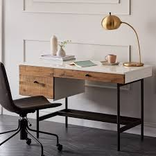 reclaimed wood writing desk reclaimed wood lacquer desk west elm