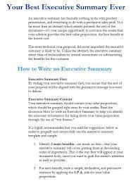 doc 585690 best executive summary u2013 31 executive summary