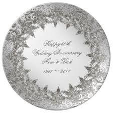 60th anniversary plates 60th anniversary plates zazzle co uk