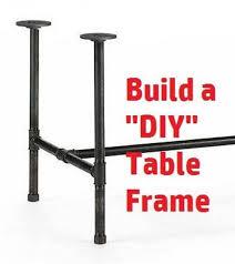 pipe table legs kit black pipe table frame table legs diy parts kit