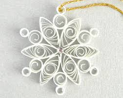 small quilled snowflake ornament ornament