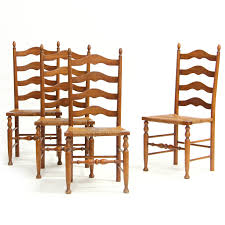 Henkel Harris Dining Room Henkel Harris Set Of Four Ladderback Dining Chairs
