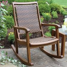 Patio Rocking Chair Bay Isle Home Howe Patio Rocking Chair Farmhouse Touches