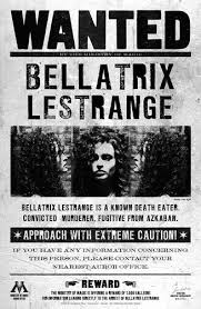 my fan club rewards have you seen this wizard bellatrix lestrange wanted poster my