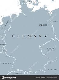 Germany Political Map by Niemcy Mapa Polityczna Szare Kolorowe U2014 Grafika Wektorowa Furian