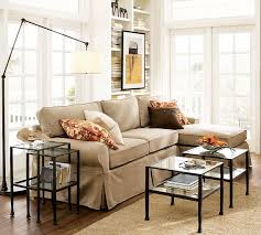 glass coffee table nest tanner nesting side tables bronze finish pottery barn