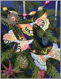 shop vintage lauscha butterfly spun glass ornament d