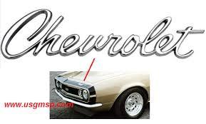 camaro badge 67 camaro chevrolet header panel emblem us gm service parts
